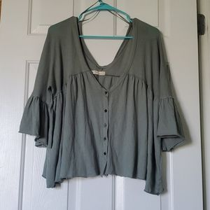 Free People We the Free flowy green top